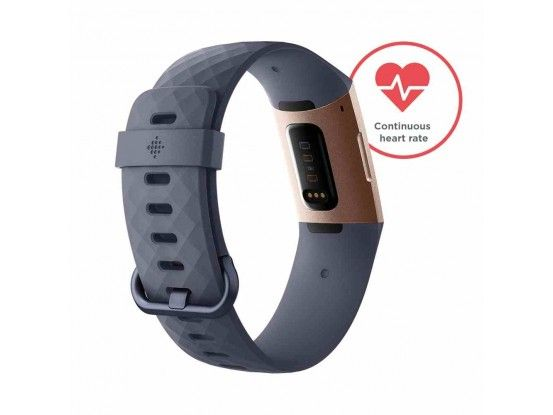 Fitbit pametni sat Charge 3 Rose Gold Blue Grey