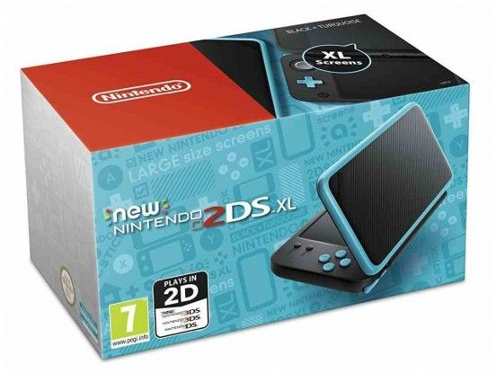 Nintendo 2DS XL Console Black Turqouise
