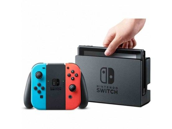 Nintendo Switch Console Red and Blue Joy-Con Fortnite