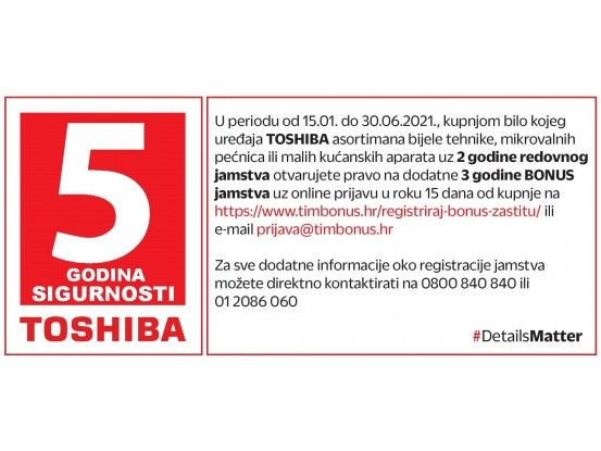 Toshiba perilica rublja TW-BJ90S2HR