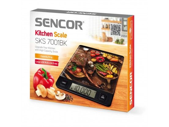 Sencor kuhinjska vaga SKS 7001BK
